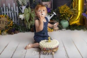 séance photo smash the cake - Clover Photographies Strasbourg