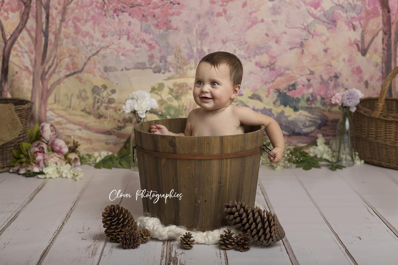 séance photo petite fille en studio, photo de famille - clover photographies