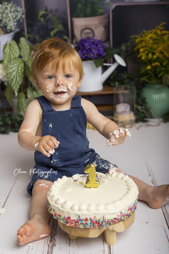 séance photo smash the cake - bebe enfant strasbourg - clover photographies
