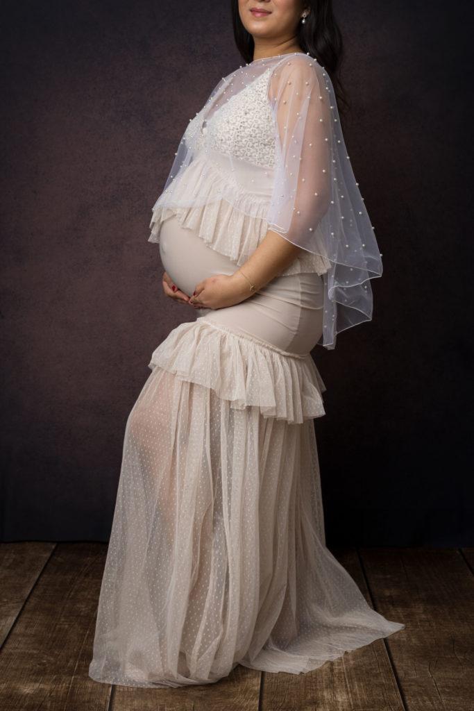 robe de grossesse pour shooting photo à strasbourg - Clover Photographies