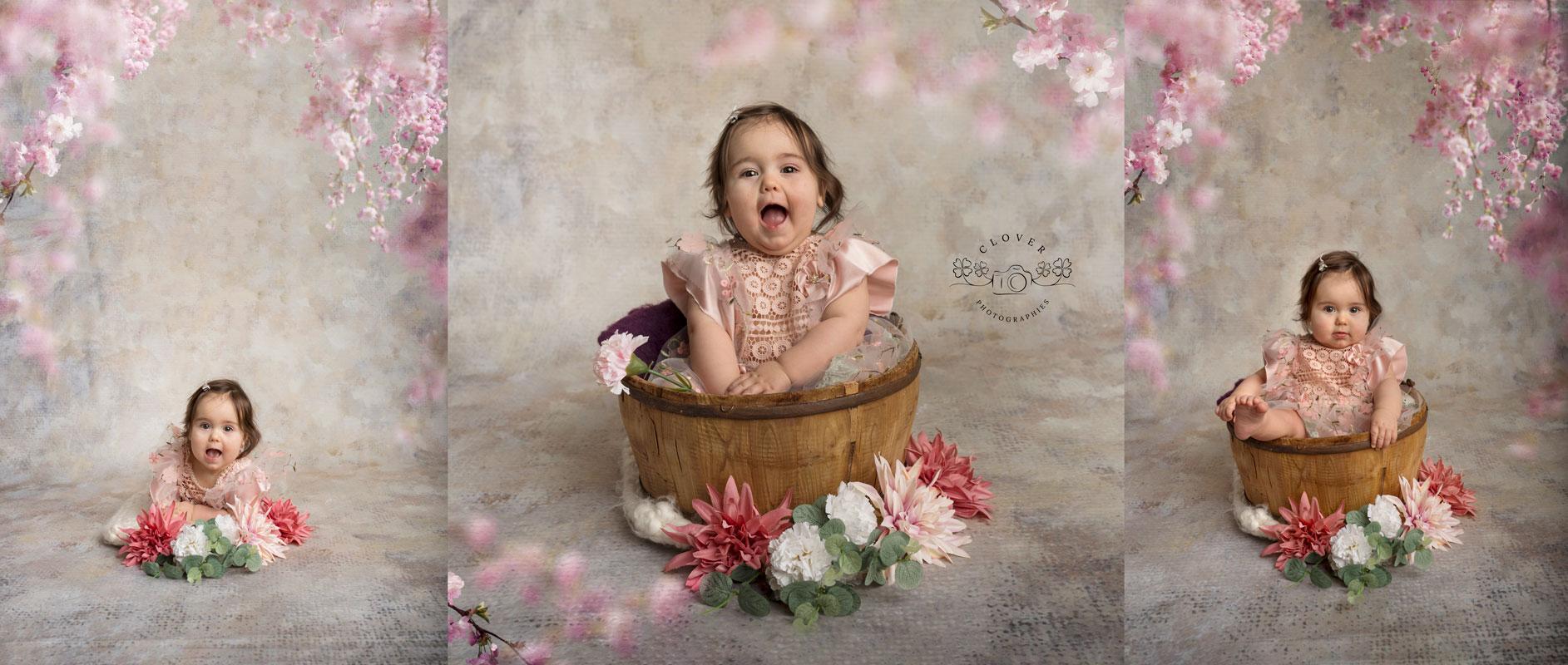 photographe bébé strasbourg - séance photo bébé 6 mois - clover photographies