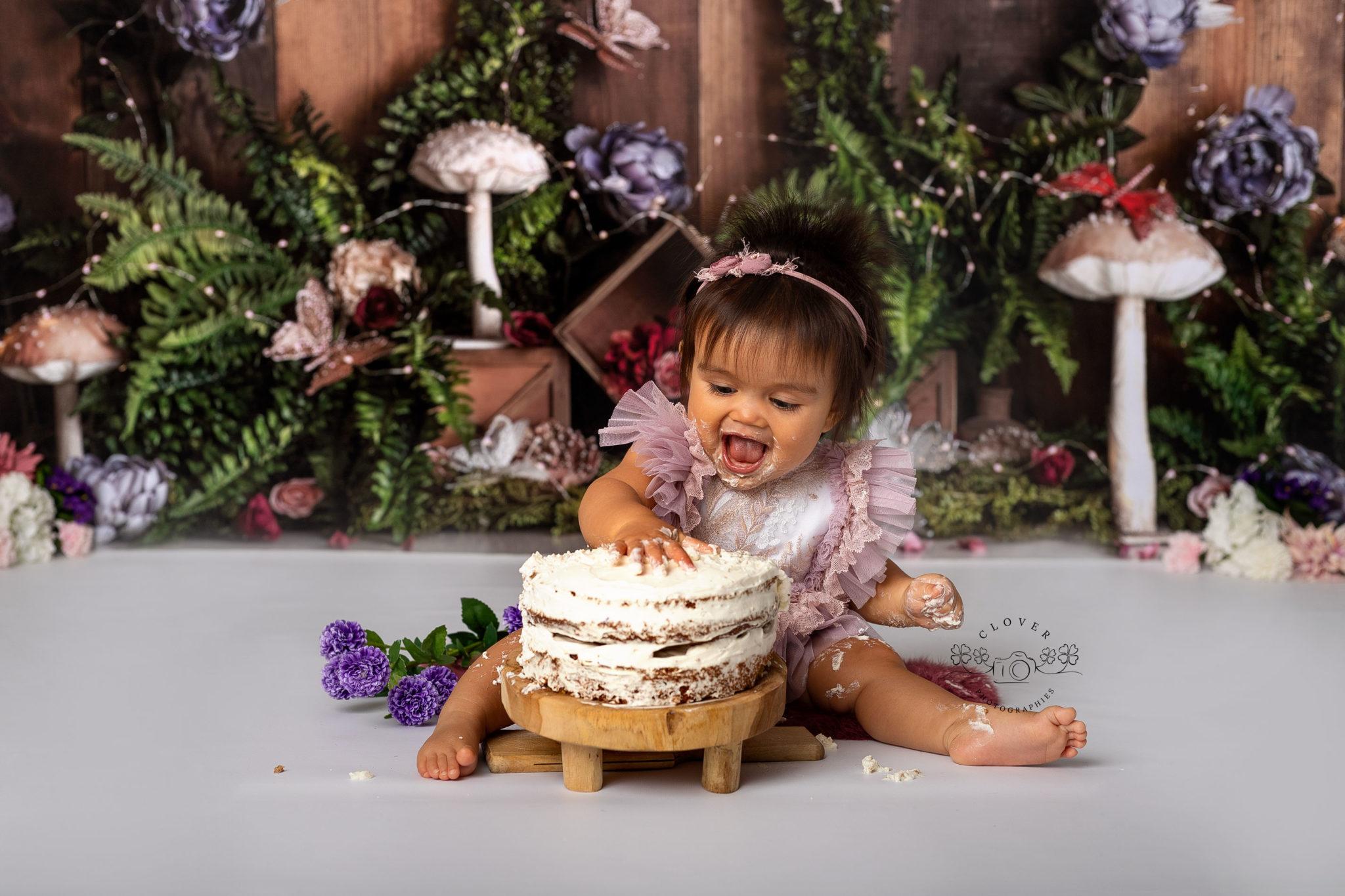 séance photo bébé anniversaire - smash the cake strasbourg - clover photographies